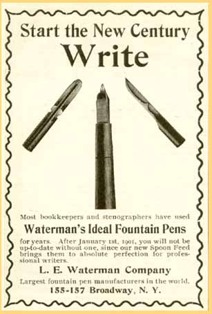 Anuncio Waterman Spoon Feed 1901