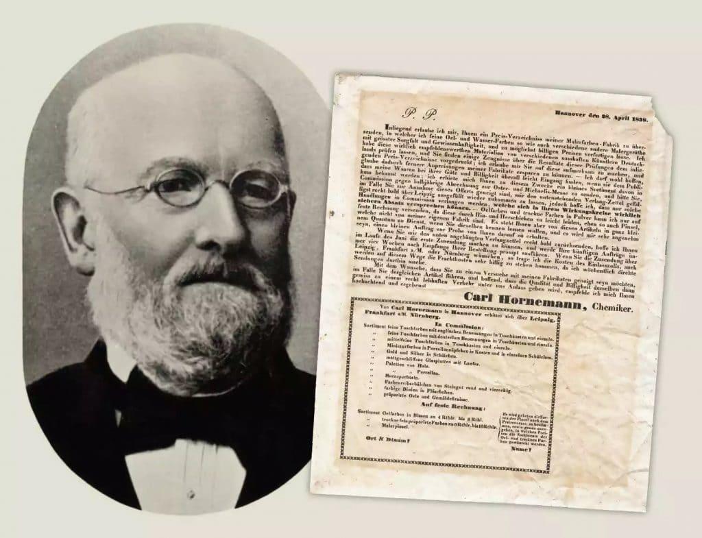 Carl-Hornemann y lista precios 1838