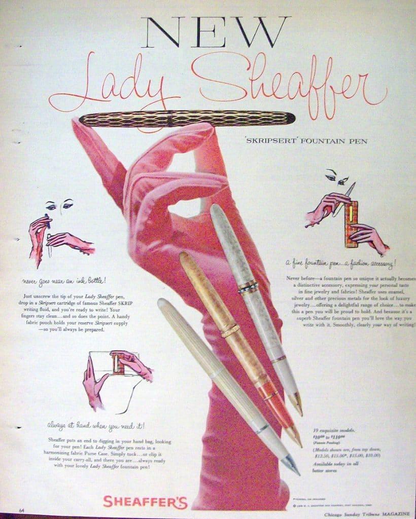 Anuncio Lady Sheaffer Anuncio 1958