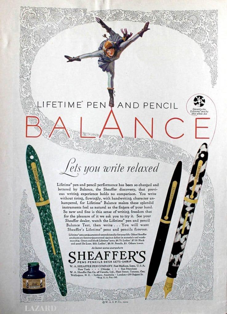 Anuncio de la Sheaffer Balance