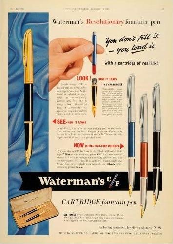 Anuncio Waterman CF 1955