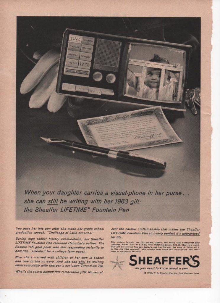 Anuncios Sheaffer Lifetime visual phone