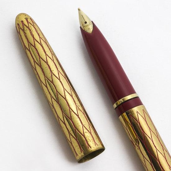Lady Sheaffer granate y dorada
