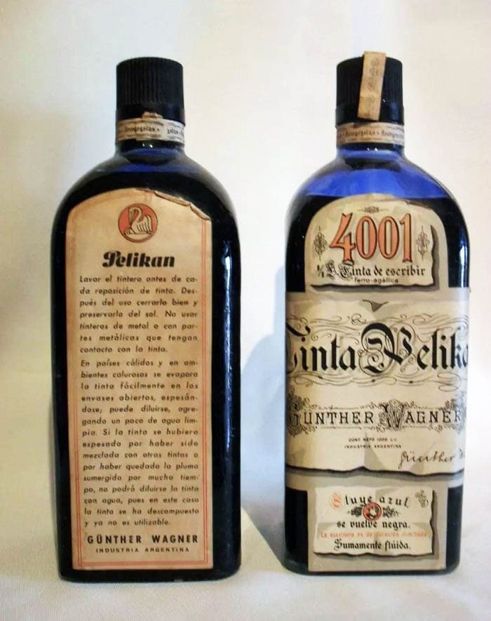 Tinta Pelikan 4001 estilográficas bote original