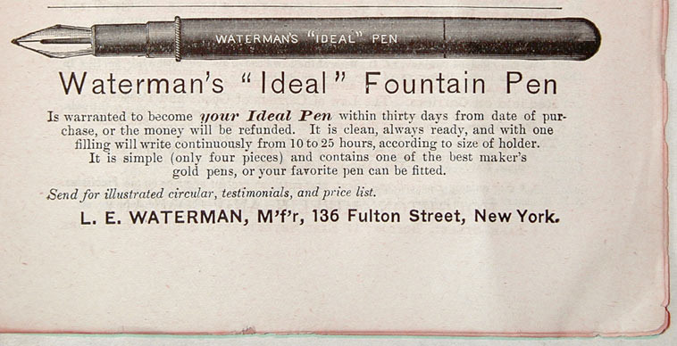 Waterman Ideal Fountain Pen 1883
