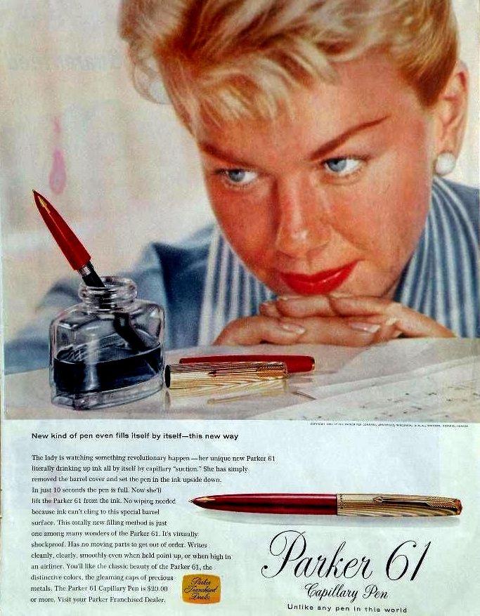Anuncio Parker 61 en 1957