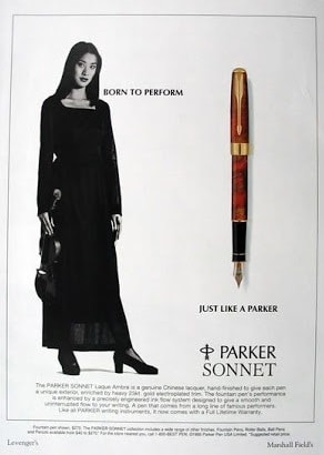 Anuncio Parker Sonnet 1995 violinista