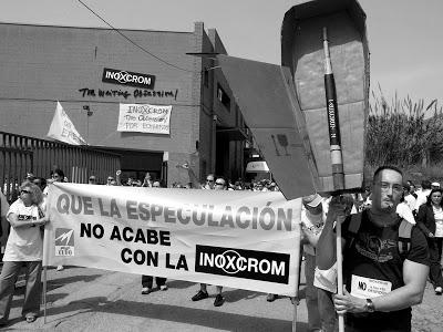 Manifestación trabajadores Inoxcrom ERE