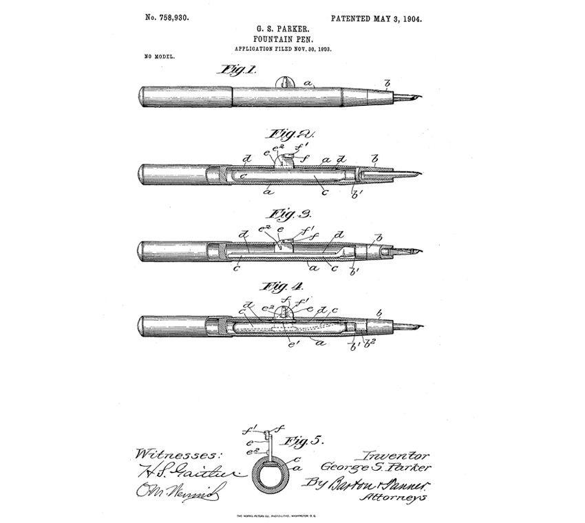 Patente Parker 1904