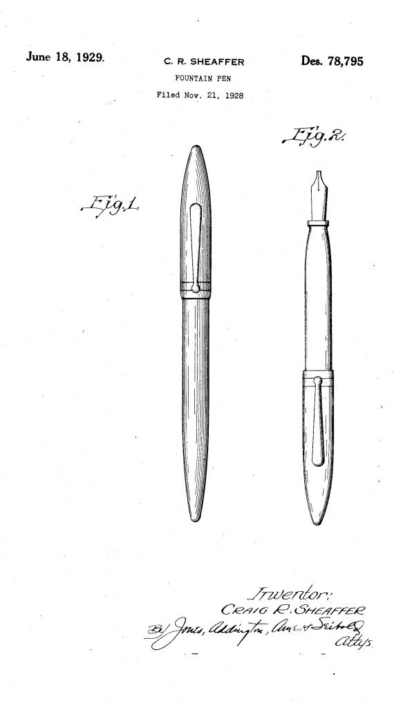 Patente de la Sheaffer Balance