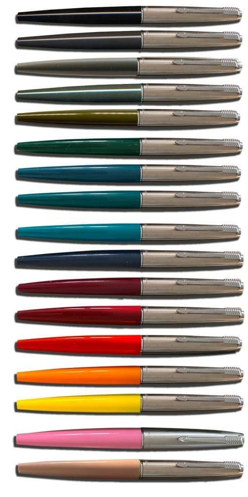 Todos los colores comercializados de Parker 45