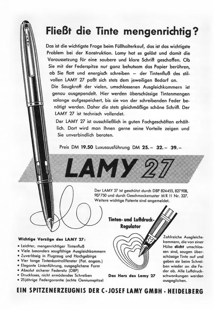 Otro anuncio de Lamy 27