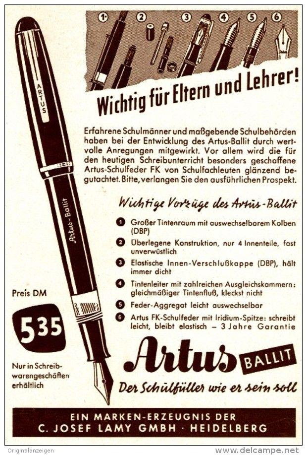 Anuncio de la pluma Lamy Artus
