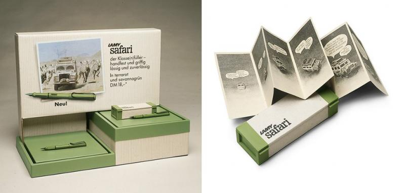 Packaging de la Lamy Safari en 1980