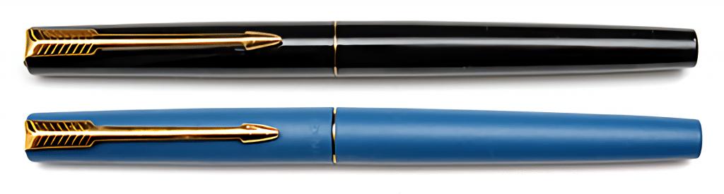 Parker 15 en negro y azul dorada