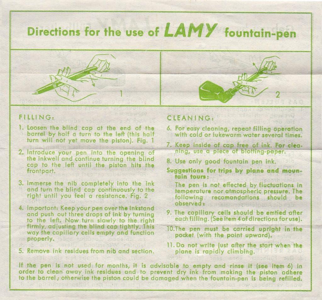 Instrucciones Lamy 27