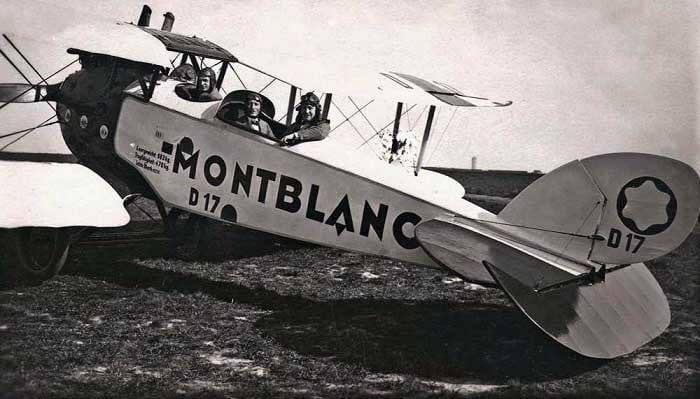 Anuncio Montblanc en una avioneta