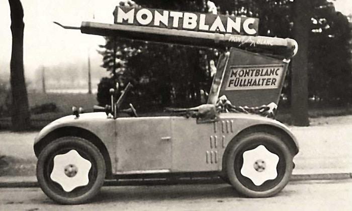 Anuncio Montblanc en un coche