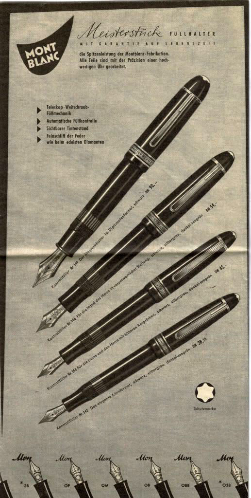 Catálogo Montblanc 1950