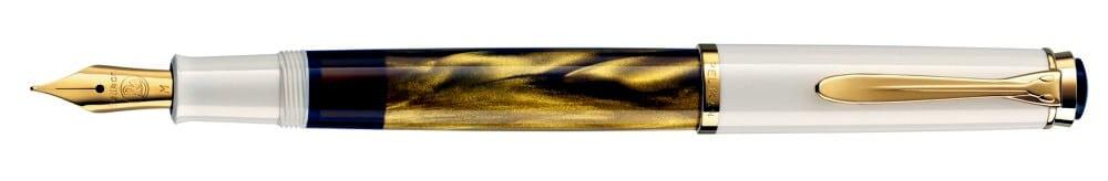 Pelikan M200 en dorado marmoleado.