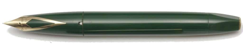 Sheaffer PFM IV en verde desencapuchada