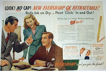 Anuncio Eversharp Bolígrafo CA 1947