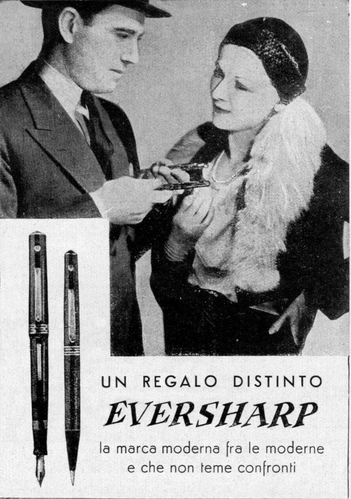 Anuncio en italiano de la Doric en 1935