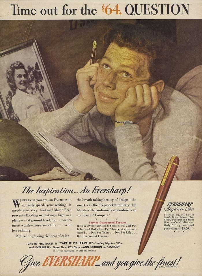 Anuncio Eversharp Skyline 1942