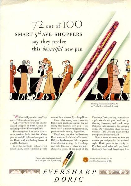 anuncio Doris New Yorker 1932