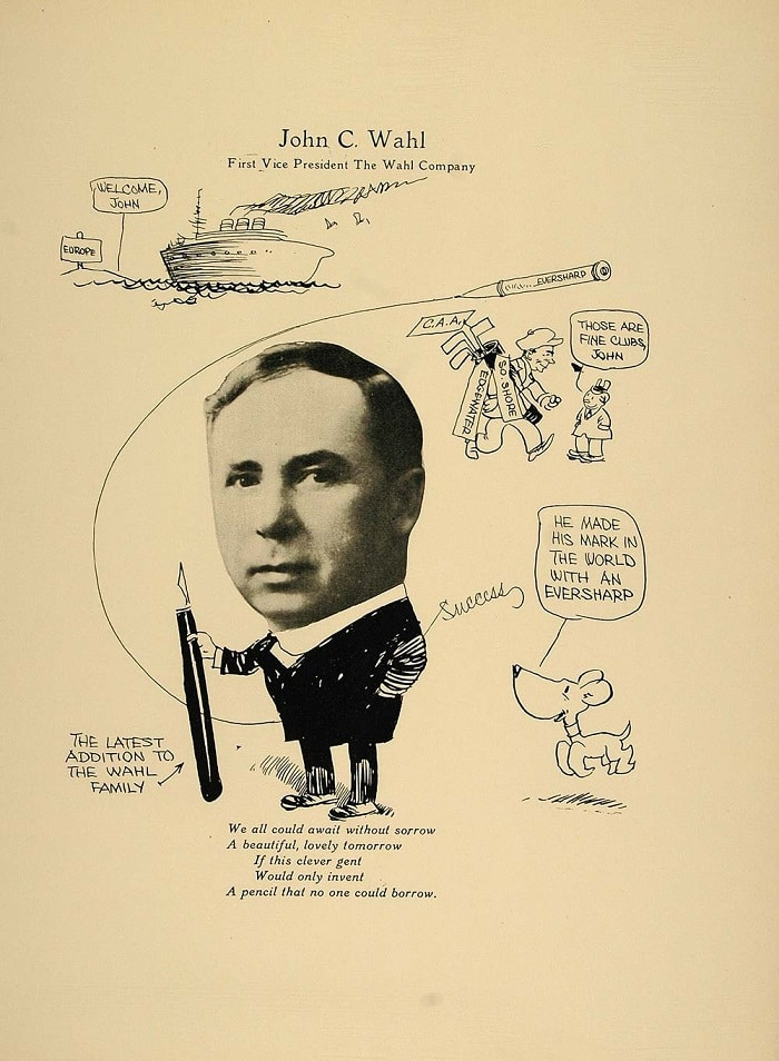 Caricatura John C Wahl