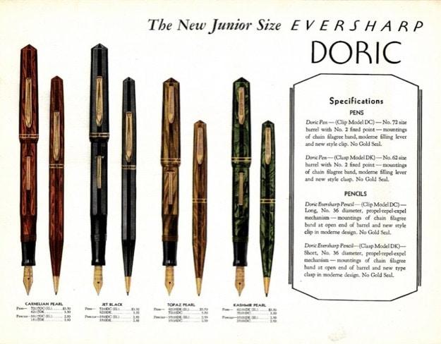 Catálogo Wahl Eversharp Doric Junior con precios