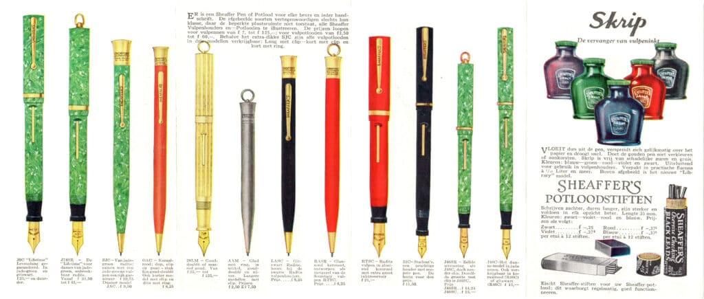 Folleto Lifetime lápices y plumas