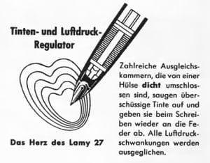 Anuncio del sistema Tintomatic de Lamy