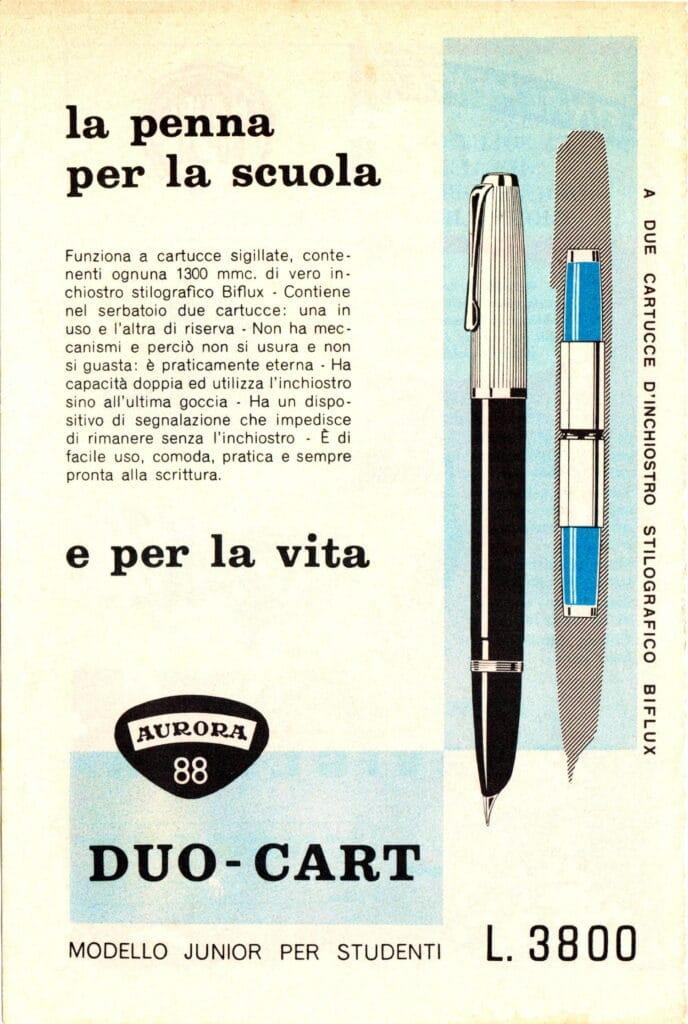 Anuncio de la Aurora Duo Cart en 1955
