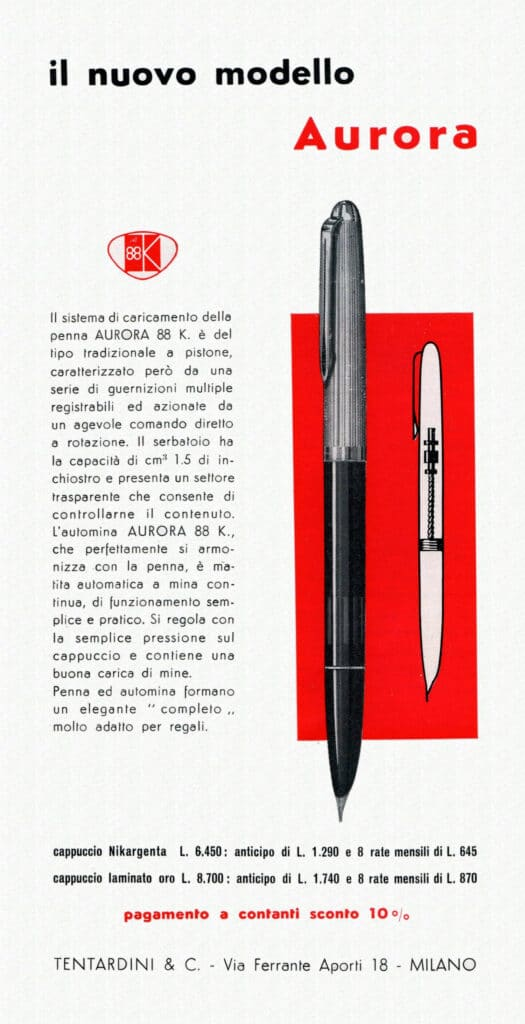 Anuncio de los años 50 del modelo 88L