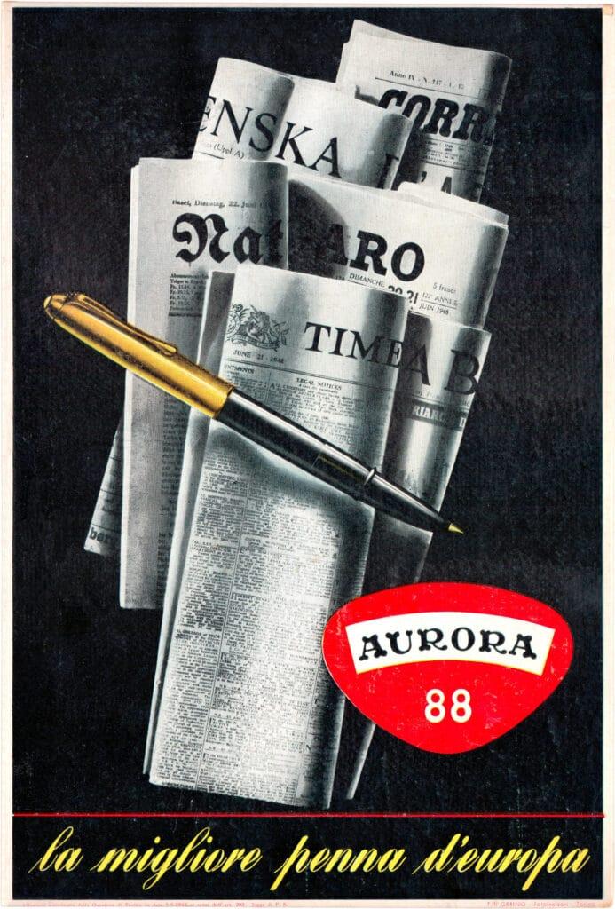Anuncio de 1948 de la Aurora 88
