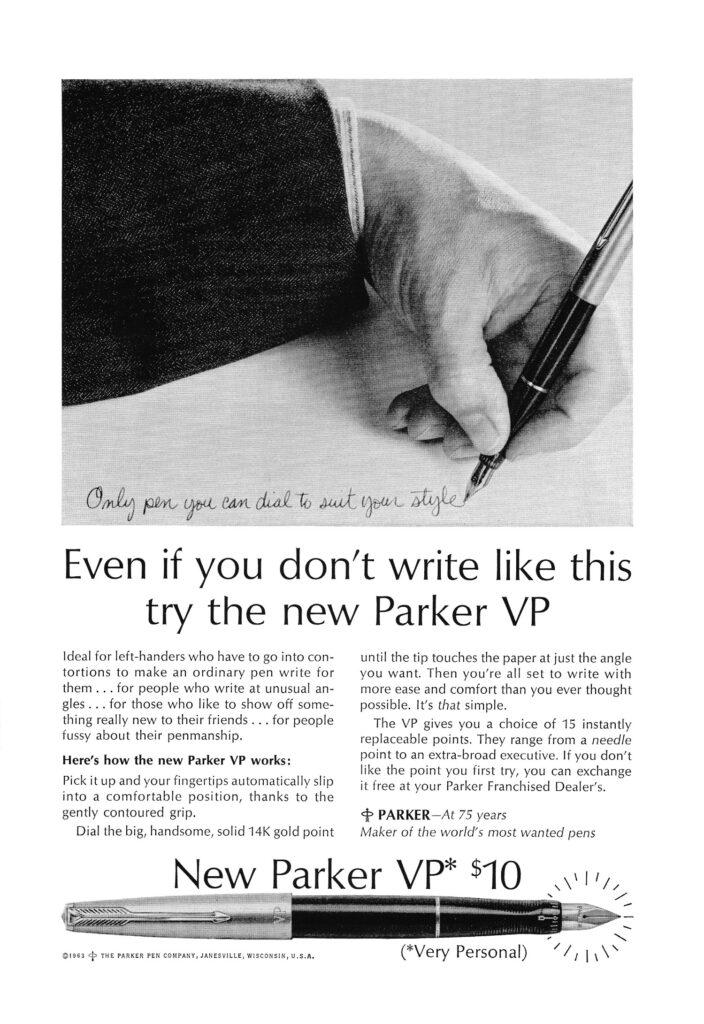 Anuncio de la Parker VP