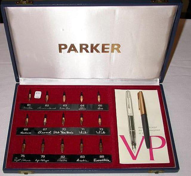 Expositor de los plumines de la Parker VP