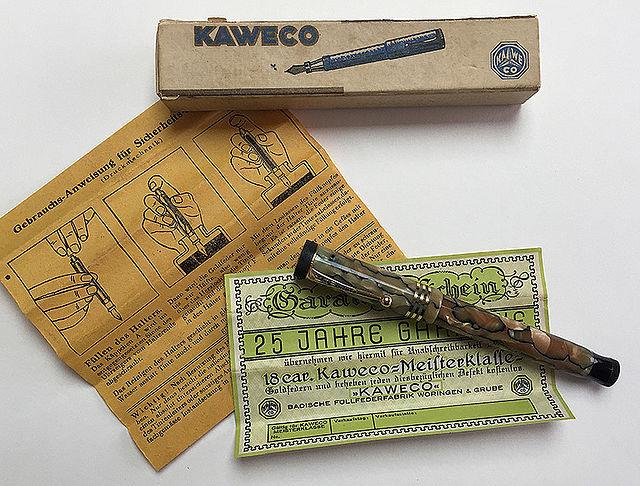 Pluma Kaweco Luxe u96 con caja y papelería original