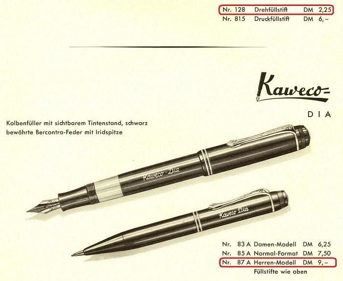 Kaweco Dia con visor de tinta