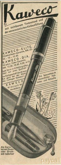 Anuncio Kaweco Elite 1938