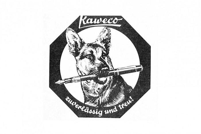 Logo de Kaweco con el pastor alemán