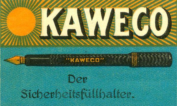 Anuncio de la pluma de seguridad de Kaweco