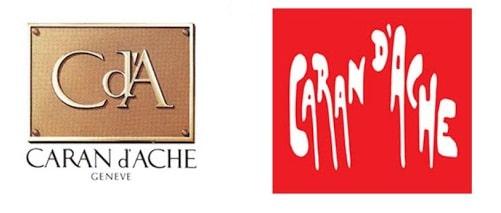 Dos logo Caran d'Ache en 1977