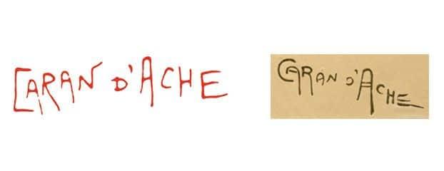 Logo Caran d'Ache inspirado en la firma de Emmanuel Poiré