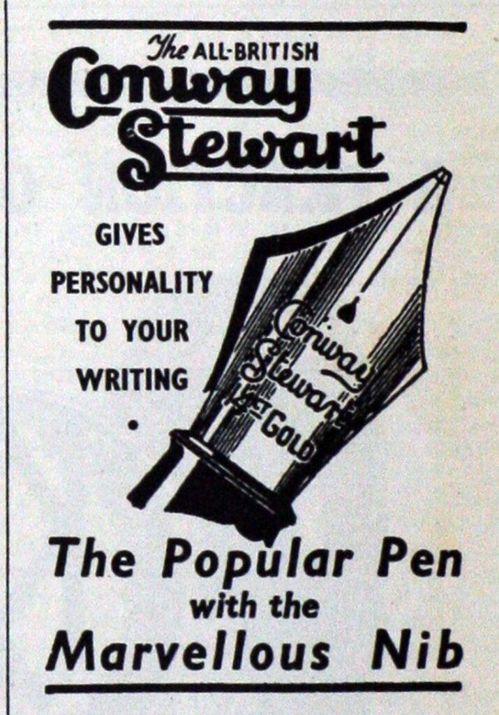 Anuncio Conway Stewart en 1946