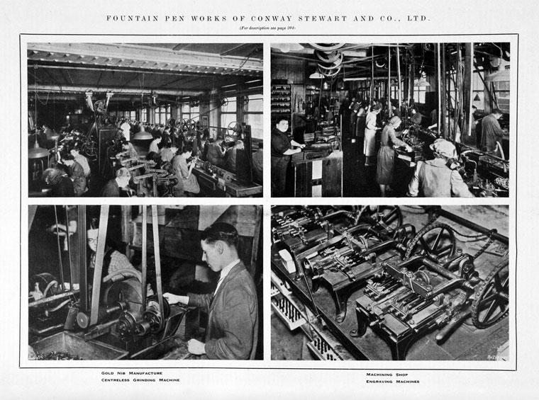 Fábrica Conway Stewart en 1939