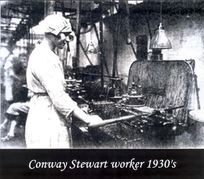 Trabajadora de Conway Stewart en los años 30