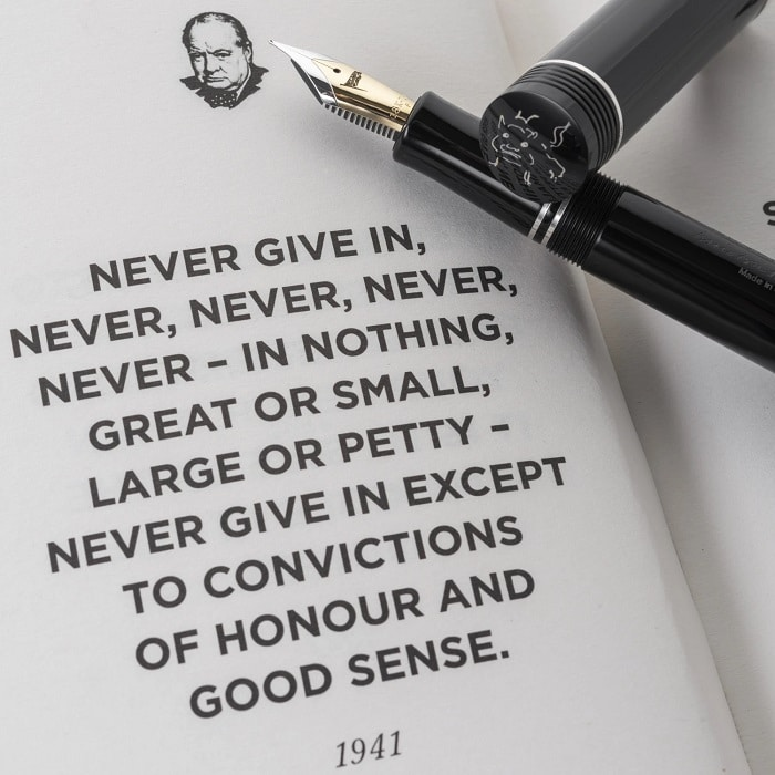 Conway Stewart Churchill Never Give In