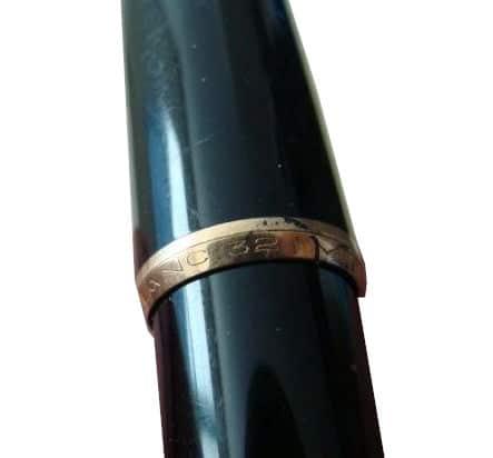 Inscripción en el anillo del labio del capuchón de una Montblanc 32P